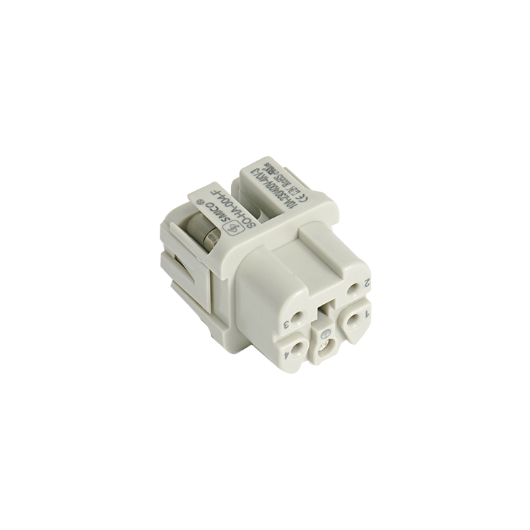Screw Heavy Duty 4 Pin Connectors Male and Female Connectors Square connector 10A connector